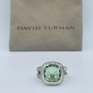 David Yurman 11mm Prasiolite Albion ring